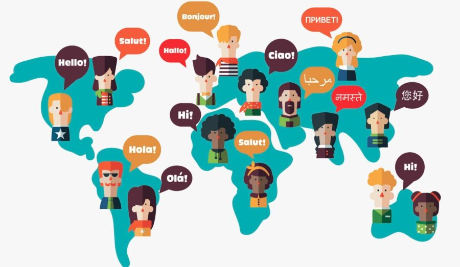 mapa de idiomas del mundo